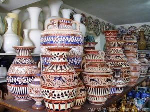 Pottery of Rhodes Greece, Plates
