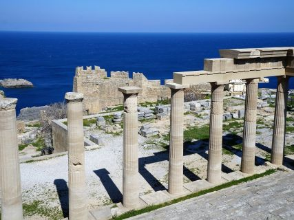 Lindos Acropolis, temple of Athena, Rhodes Lindos Private Tours