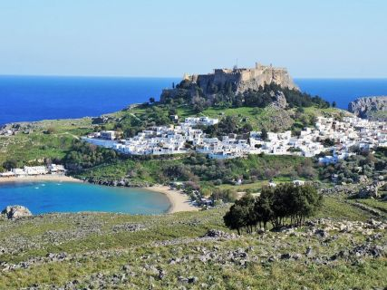 Panoramic View of Lindos, Rhodes Lindos Tour
