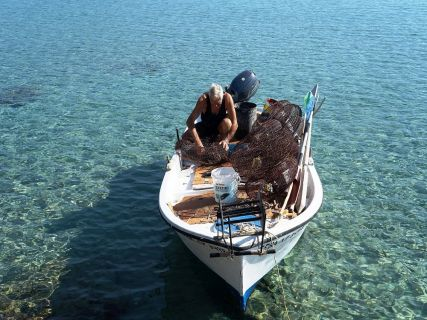 Fishing boat, Private Lindos Tour