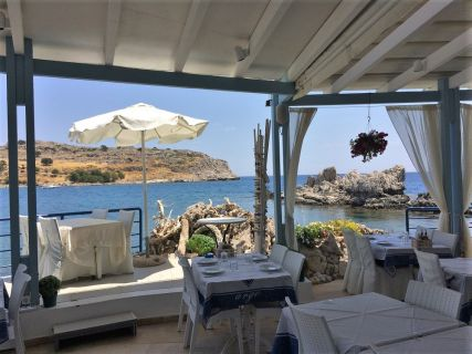 Charaki Village, Seaside Restaurant, Rhodes Custom Private Tours