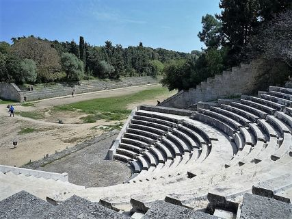 Ancient Theatre, Custom Tours in Rhodes Greece