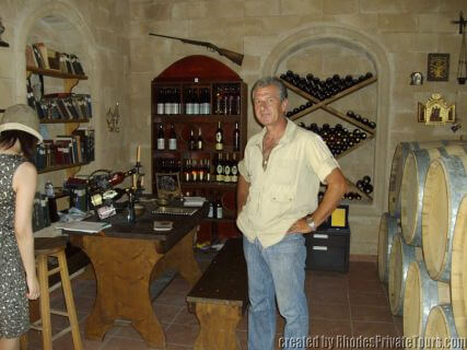 Wine tour of Rhodes Greece