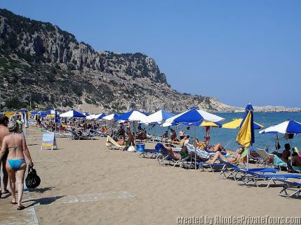 Tsambika Beach in Rhodes Greece