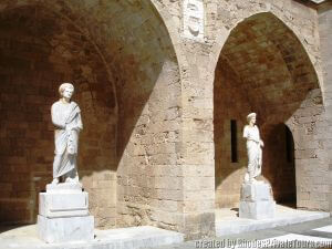 Statues in the Grand Master's Palace, Tours of Rhodes