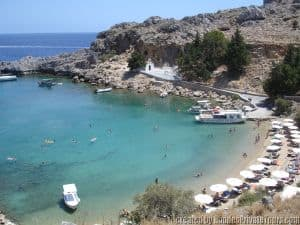 St. Paul's Bay, Lindos, Rhodes Greece, Tours of Rhodes