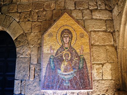 St Mary Icon - Christian religious tour in Rhodes Greece
