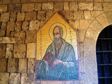 St Paul - biblical sites in Rhodes Greece