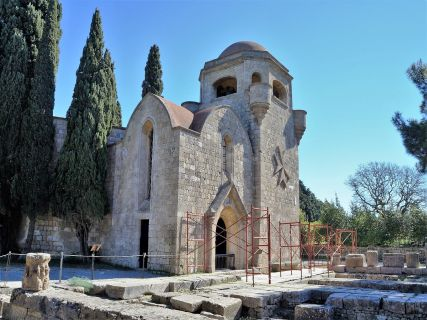 Our Lady of Filerimos church on the ruins of the temple of Athena Polias