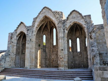 ruins of the church of Virgin Mary of Burgos in Rhodes
